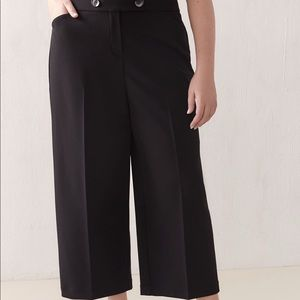Addition elle Wide leg pull on black pant size 0X